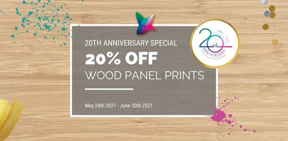 Chromaco 20th anniversary special wood panel prints