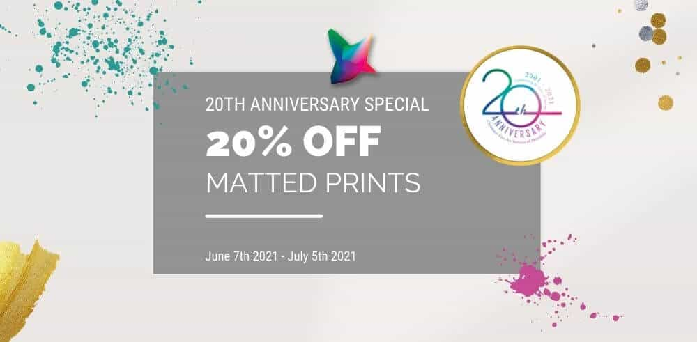 20th anniversary special matted prints