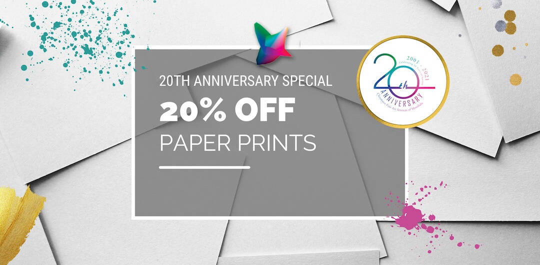 paper prints 20% off anniversary special